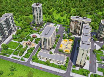 Панорама корпусов ЖК Зеленоград Сити